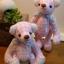 ตุ๊กตาหมีผ้าฝ้ายสีชมพู ขนาด 12 cm. - Bess thumbnail 3