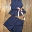 เซตเสื้อกั๊กกับกางเกงขาสั้นสีพื้น กรม-น้ำเงิน thumbnail 4