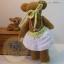 ตุ๊กตาหมีผ้าขนสั้นสีน้ำตาลขนาด 12 cm. - flower01 thumbnail 3