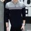 เสื้อแขนยาวคอกลมแฟชั่นสไตล์เกาหลีสุดเท่ห์ thumbnail 1