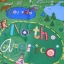 What A World Map Panel Blue thumbnail 5