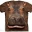เสื้อยืด3Dสุดแนว(HIPPO HEAD T-SHIRT) thumbnail 1
