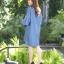 เดรสผ้ายีนส์แขนบานปักดอกไม้3D thumbnail 6