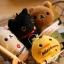(สินค้าแลกซื้อในราคา 60 บาท) San-X ที่ห้อยมือถือแบบเช็ดหน้าจอได้ มี Rilakkuma/ Korilakkuma/ Chicken/ Kutsushita Nyanko thumbnail 4