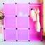 ตู้ DIY สีชมพู ลายเส้น ขนาดช่องละ 37x37 ซม. รับน้ำหนักได้ช่องละประมาณ 10-15 กิโลกรัม (ขนาด 12 และ 16 แถมชั้นวางรองเท้า) thumbnail 2
