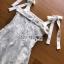 มินิเดรสผ้าลูกไม้ตกแต่งผ้าเครปสายผูกโบ thumbnail 8