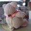ตุ๊กตาหมีผ้าขูดขนสีน้ำตาลขนาด 9.5 cm. - Niza thumbnail 3
