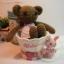 ตุ๊กตาหมีถักขนาด 18 cm. - PiPo ( brown) thumbnail 1