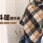 เสื้อโค้ทกันหนาวสไตล์สาวเกาหลี ทรงสามเหลี่ยม เก๋ๆ ลายสก็อต เนื้อผ้าไม่หนามากนะคะ thumbnail 6