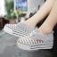 CHAOYI รองเท้าแฟชั่นผ้าใบพื้นหนาโทนสีเทาไซส์ 38 สินค้าจริงตามแบบนะค่ะ thumbnail 3