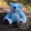 ตุ๊กตาหมีผ้าขนสีฟ้าขนาด 12 cm. - Bess thumbnail 3