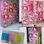 ตู้ DIY ลายการ์ตูน Hello Kitty ข้างตู้มีสีชมพู//ฟ้า//แดง/ขาวใสลายเส้นขนาดช่องละ 37x37 ซม. รับน้ำหนักได้ช่องละประมาณ 10-15 กิโลกรัม (ขนาด 12 และ 16 แถมชั้นวางรองเท้า) thumbnail 2