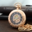 นาฬิกาพกฝาหน้าใสระบบไขลานโรสฌกลด์ลายเถาวัลย์คลาสสิคโรมัน