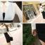เดรสแฟชั่นเกาหลีเสื้อแขนยาวคอปก สีขาว+ตัวชุดด้านในเสื้อแขนกุดเข้ารูปสีดำ สินค้าตามแบบคะ thumbnail 7