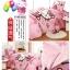 [Preorder] ผ้าปูที่นอนเตียงเดี่ยว (ไซส์ 3.3 ฟุต, 4 ฟุต หรือ 4.5 ฟุต) ลาย Hello Kitty สีชมพู Cartoon coral velvet three-piece children's bed dormitory bed linen products thumbnail 3