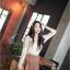 R.J.Story เสื้อแฟชั่นเกาหลีแขนปีกค้างคาวสีครีมแต่งด้วยผ้าโครเชเนื้อผ้าใส่สบายนะค่ะ thumbnail 3