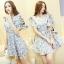 ชุด mini dress ลายดอกโทนสีพาสเทล thumbnail 2