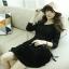 ชุดเดรสแฟชั่นเกาหลีแขนยาวสีพื้นมี2สีนะค่ะ thumbnail 13