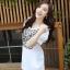 เสื้อแฟชั่นเกาหลีสกรีนลายด้านหน้าแต่งกระดุมแขนตุ๊กตาจับจีบไขว้กันน่ารักค่ะ thumbnail 7