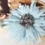 สร้อยคอแฟชั่น ดอกไม้ใหญ่สีฟ้า thumbnail 3