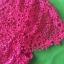 (Pink-rose)ชุดเดรสผ้าลูกไม้ถักทอทั้งชุด สีชมพูบานเย็น pink แต่งมุขด้านหน้าสลับเพชรเล็ก วิ๊งวิ๊ง thumbnail 5