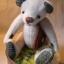 ตุ๊กตาหมีผ้าวูลท์สีเทาขนาด 19 cm. - Lilac thumbnail 1
