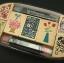 ชุดตัวปั๊ม floral wooden stamp set ตัวด้ามไม้พร้อม หมึก twin color thumbnail 1
