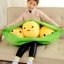 ตุ๊กตาถั่วลันเตา ไซด์จัมโบ้ เมล็ดสีเหลือง thumbnail 1