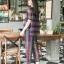 เซตเสื้อ+กางเกงผ้าลูกไม้2โทน thumbnail 9