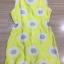mini dress สีเหลืองแขนกุด ปักลายดอกไม้สีเหลือง thumbnail 5