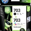 HP 703 INK CARTRIDGE COMBO PACK BLACK/TRICOLOR (แท้) F6V32AA thumbnail 1