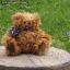 ตุ๊กตาหมีผ้าขนหยิกขนาด 25 cm. - Bagel thumbnail 1