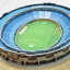 จิ๊กซอ 3 มิติ สนามกีฬาเอสตาดิโอ(Estadio Azul)(No.C059h) thumbnail 4