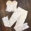Set เสื้อลูกไม้ขาวสายเดี่ยว + กางเกงงานลูกไม้ขาวขายาว thumbnail 6