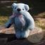 ตุ๊กตาหมีผ้าขนสีฟ้าขนาด 12 cm. - Bess thumbnail 1