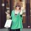 เสื้อแฟชั่นแต่งคอวีทรงสบายสีเขียวตามแบบนะค่ะ thumbnail 1