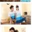 พร้อมส่ง ชุดคู่น่ารักๆ ผู้หญิง-เดรสสีฟ้าขาว / ผู้ชาย-เสื้อทีเชิ๊ตคอกลม thumbnail 7