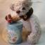 ตุ๊กตาหมีผ้าขนแกะสีน้ำตาลขนาด 20 cm. - Poppy thumbnail 4