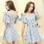 ชุด mini dress ลายดอกโทนสีพาสเทล thumbnail 3
