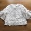 เสื้อผ้าคอตตอนทับด้วยผ้าตาข่ายปักดอกไม้สีขาว thumbnail 6