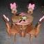 ลาย Minnie Mouse รุ่นมีพนักพิง โต๊ะ ขนาด 18*20 นิ้ว จำนวน 1 ตัว เก้าอี้ ขนาด 10*10 นิ้ว จำนวน 4 ตัว ผลิตจากไม้จามจุรี รับน้ำหนักได้ถึง 70 กก. thumbnail 1