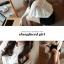 RJ.Story เสื้อแฟชั่นเกาหลีคอปกผ้าโครเชช่วงไหล่ตัดต่อผ้่าลูกไม้ตามภาพ thumbnail 5