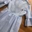 เดรสผ้าคอตตอนลายทางสีฟ้าขาวปักลายดอกไม้สไตล์ซัมเมอร์ thumbnail 5