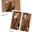 เดรสแฟชั่นแขนยาวผ้านิตติ้งลายเสือสีโทนน้ำตาล เอวเข้ารูป thumbnail 5