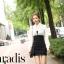 เดรสแฟชั่นเกาหลีเสื้อแขนยาวคอปก สีขาว+ตัวชุดด้านในเสื้อแขนกุดเข้ารูปสีดำ สินค้าตามแบบคะ thumbnail 2