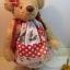 ตุ๊กตาหมีผ้าขนแกะสีน้ำตาลทองขนาด 23 cm. - Sue thumbnail 2