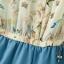 [Preorder] จั๊มสูทแฟชั่นแขนกุดลายนกและดอกไม้ สีฟ้า (Size S M L) 2014 summer new Korean women's fashion stitching lace chiffon piece pants shorts thumbnail 8