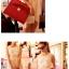 Axixibag กระเป๋าถือแฟชั่นสีแดงแต่งโบว์ใบใหญ่ แบบฝาเปิด มีสายสะพายยาว thumbnail 2