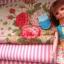ผ้าจัดเซตผ้า cotton หาในไทยขนาด 1/8 หลา 1ชิ้น + ผ้าลายทางหาในไทย 1 ชิ้น ขนาด1/8 m thumbnail 1