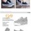 CHAOYI รองเท้าแฟชั่นผ้าใบพื้นหนาโทนสีเทาไซส์ 38 สินค้าจริงตามแบบนะค่ะ thumbnail 7